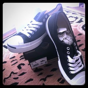 Converse black tennis shoes - new never worn